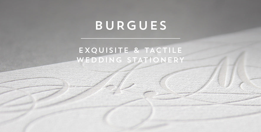 Burgues letterpress wedding stationery