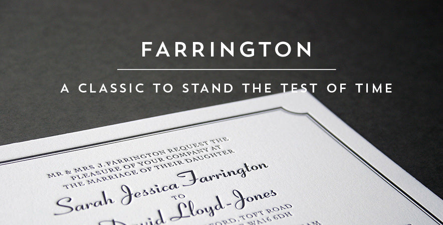 Farrington letterpress wedding stationery