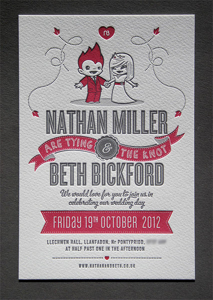 Nathan & Beth wedding invitation