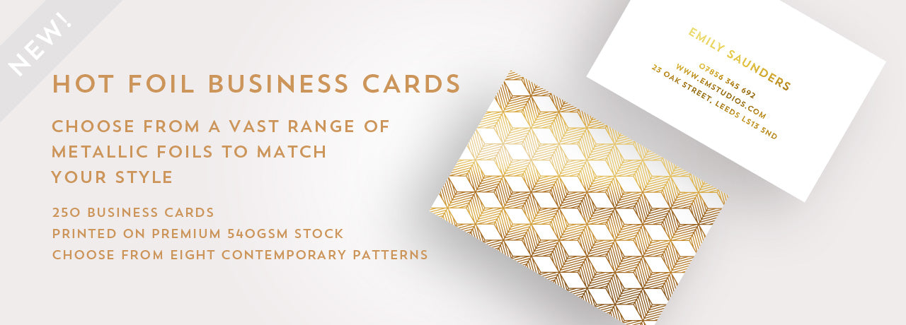 Hot foil business cards