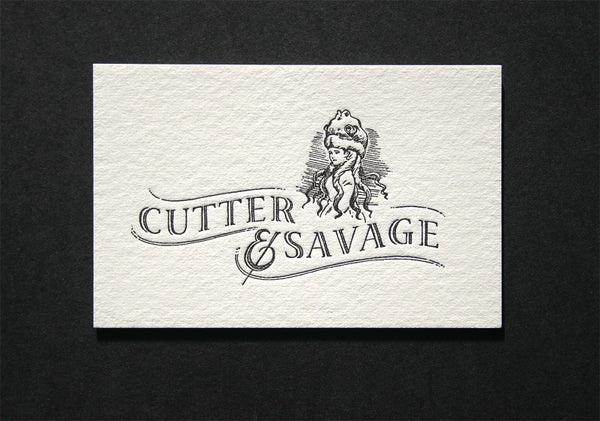 Cutter & Savage letterpress business cards