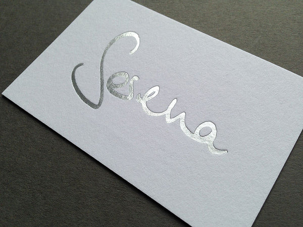 Serena Bolton photography hot foil business card