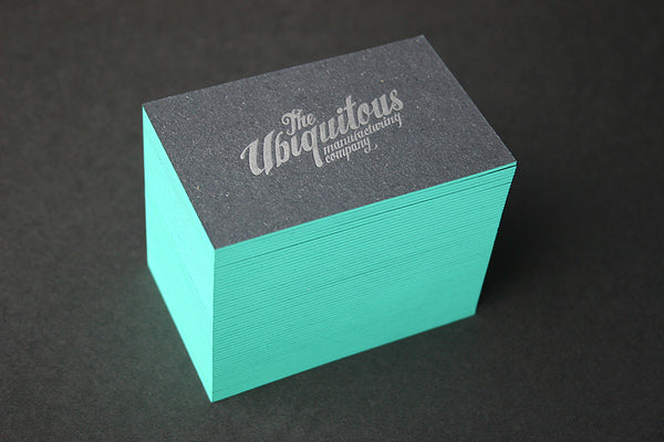 Ubiquitous letterpress business cards