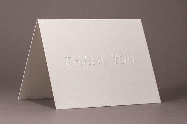 Embossed Thank You Cards Gift Set