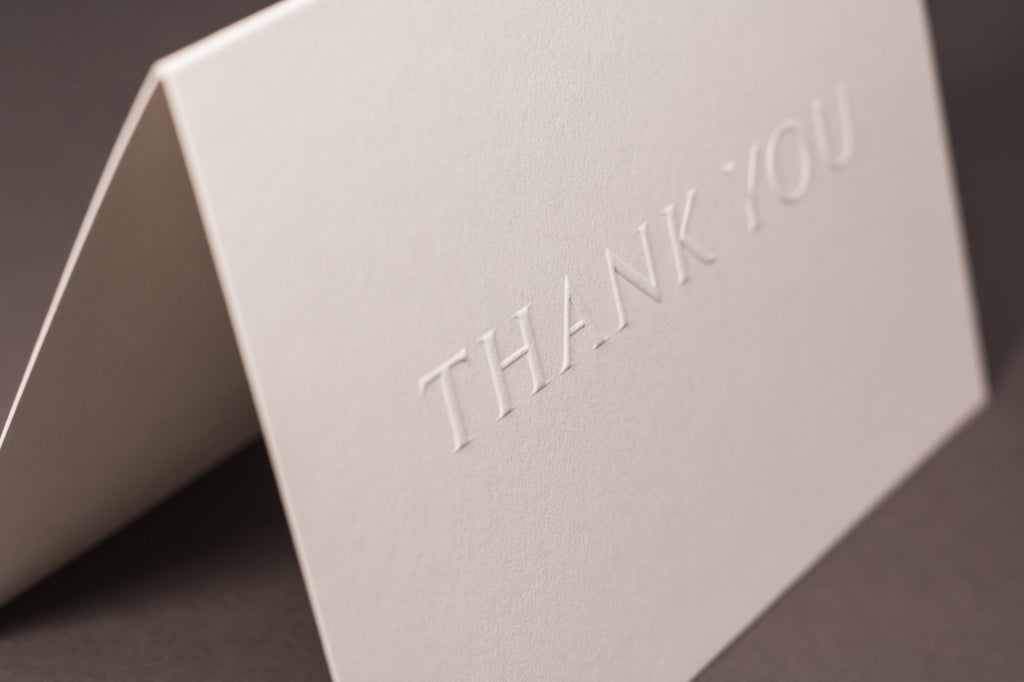 Embossed Thank You Cards – blush°°