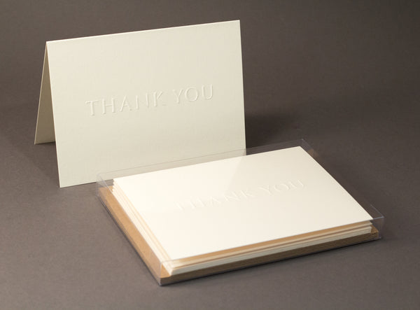 Embossed Thank You Cards - Set of 6