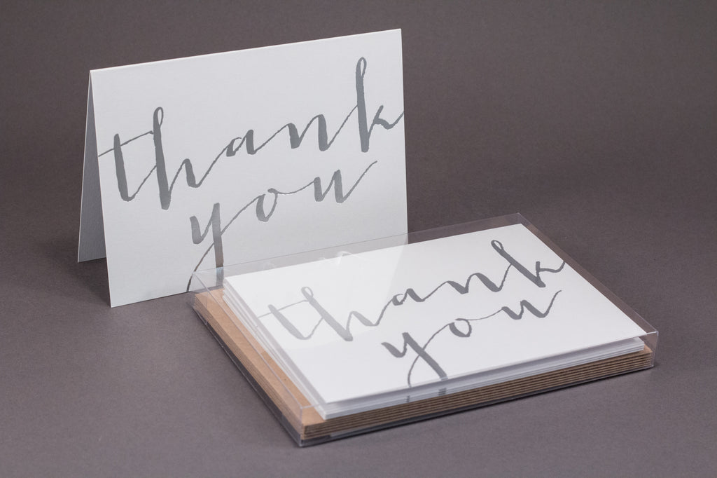 Silver Calligraphy Thank You Boxset