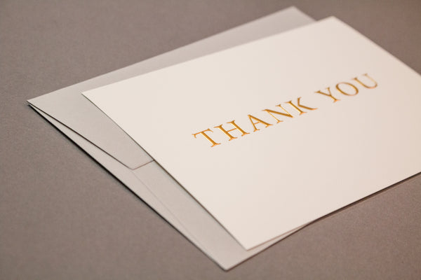 Embossed Gold Hot Foil Thank You Cards Box Set