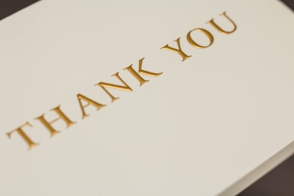 Embossed Gold Hot Foil Thank You Cards Gift Set