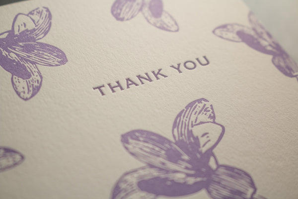 Lilac Flowers Thank You Cards