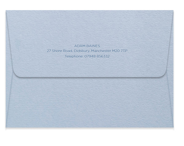 Baines personalised letterpress correspondence cards