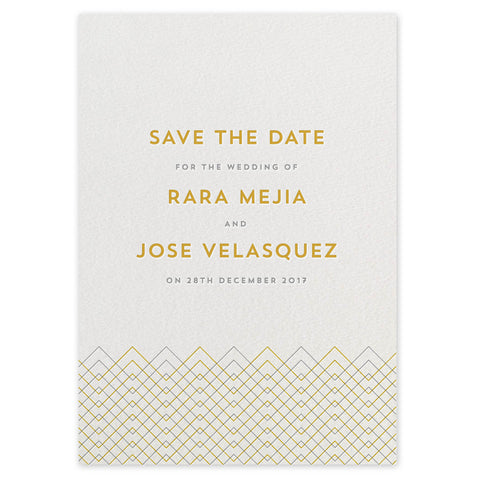 Baywood letterpress save the date