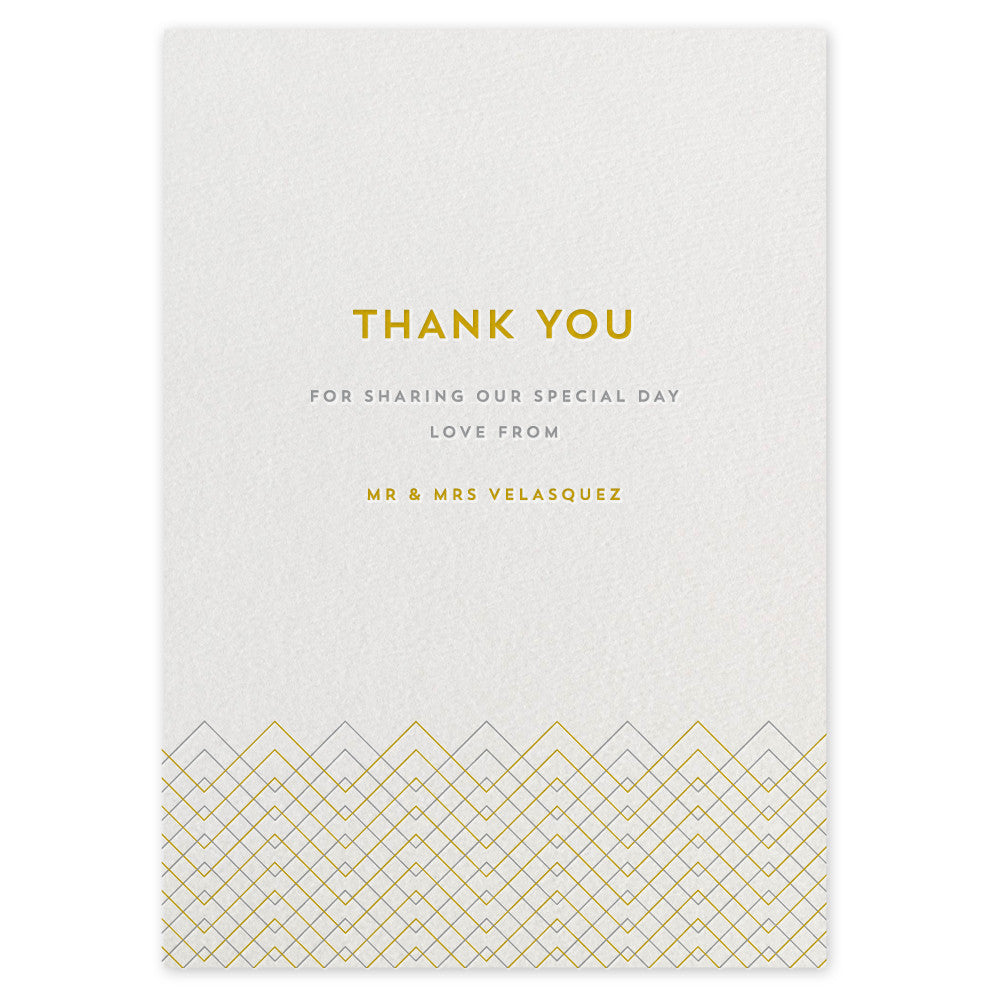 Baywood letterpress thank you card