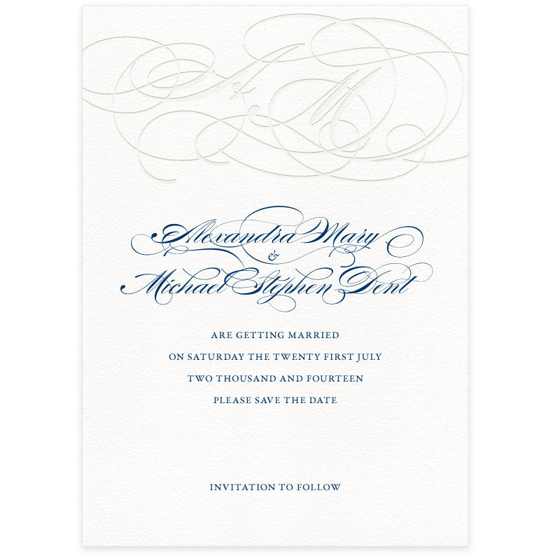 Burgues letterpress wedding Save the Date