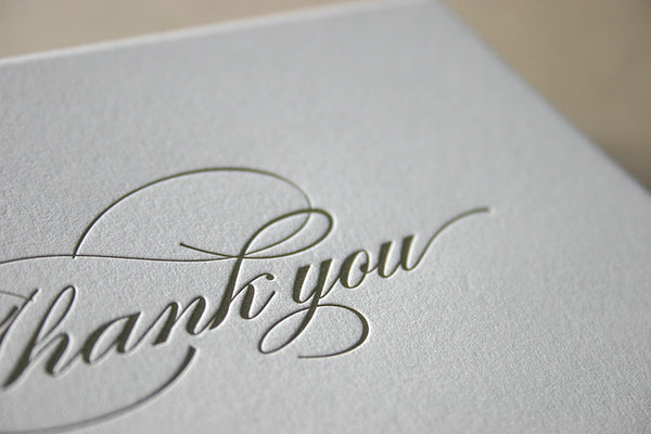 Burgues thank you cards