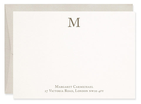 Caslon Monogram personalised correspondence cards