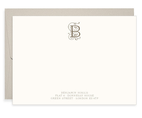 Hollis personalised letterpress correspondence cards