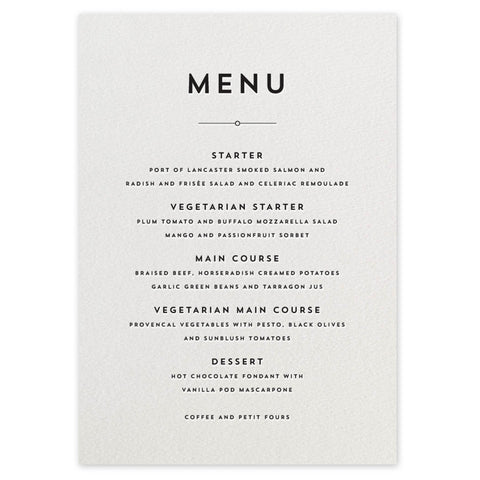 Edmondson menu