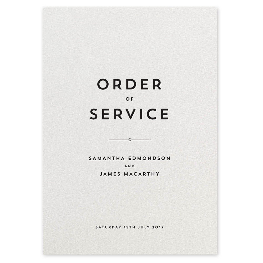 Edmondson Order of Service