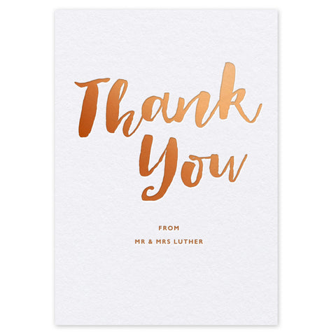 Elisa hot foil thank you cards