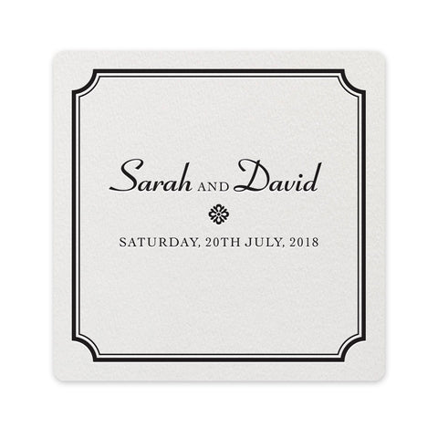 Farrington Coaster - letterpress wedding stationery
