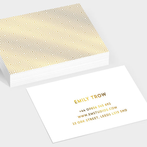 Gem gold hot foil business cards