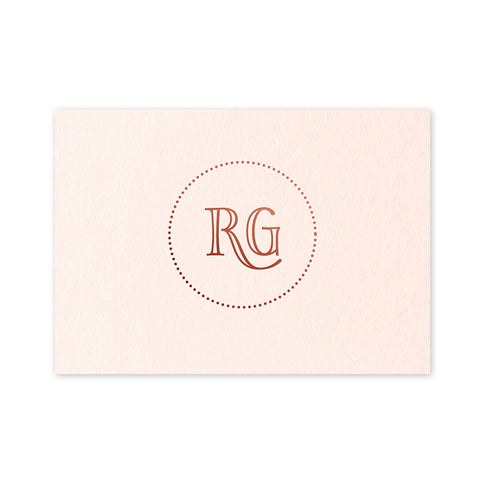 Geraldine Place Card - hot foil wedding stationery