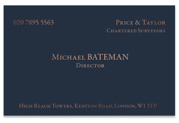 Classic Hot Foil Business Cards