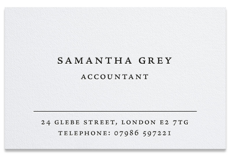 Glebe letterpress business card