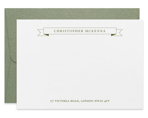 McKenna personalised letterpress correspondence cards