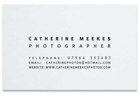 Meekes letterpress business cards