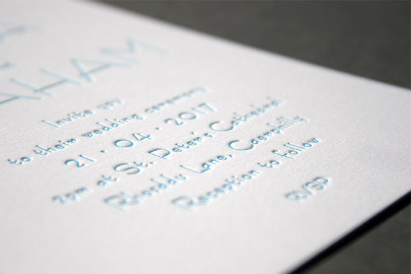 Olivia letterpress wedding stationery