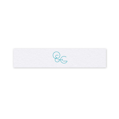 Olivia letterpress printed belly band