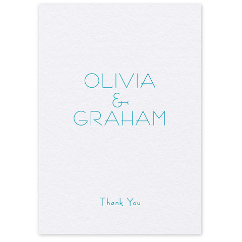 Olivia Thank You Card letterpress wedding stationery