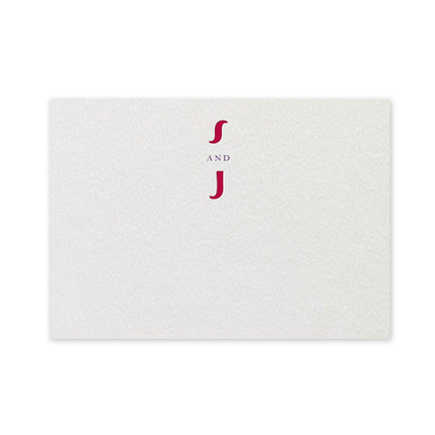 Paisley letterpress place card