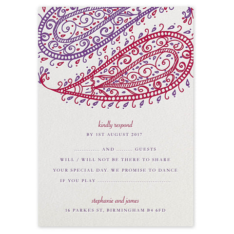 Paisley RSVP Invitation