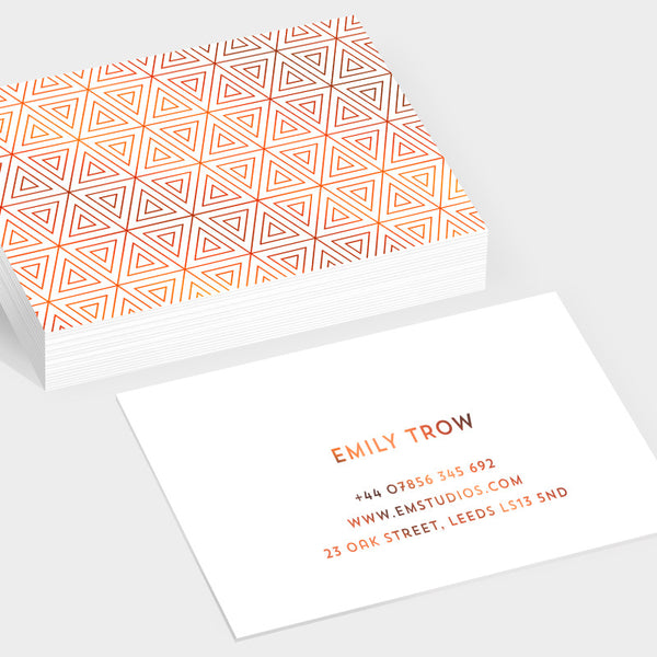 Prism bronze hot foil business cards