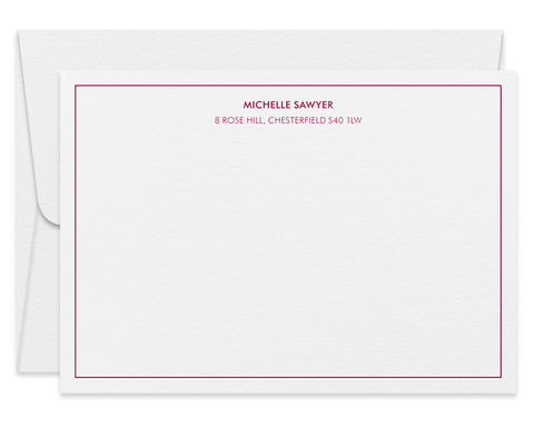 Rosehill personalised letterpress correspondence cards