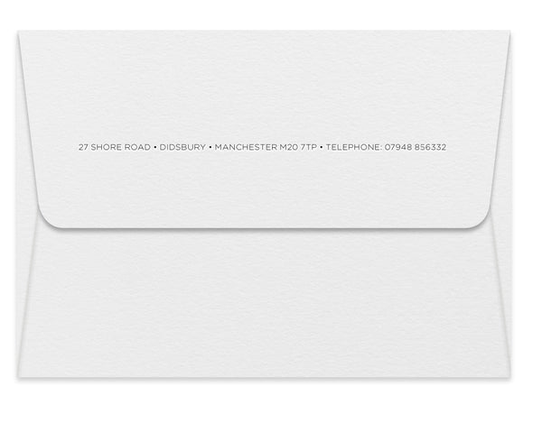 Shore personalised letterpress correspondence cards