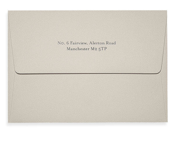 Simpson letterpress correspondence card envelope