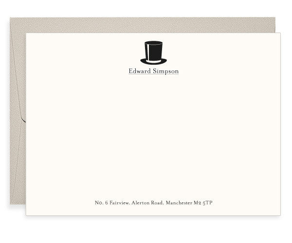 Simpson letterpress correspondence cards