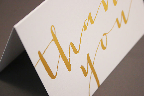 Gold hot foil thank you cards