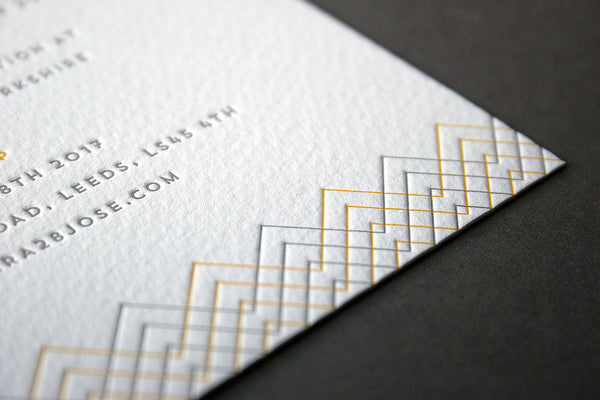 Baywood letterpress wedding stationery