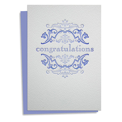 Congratulations letterpress greeting cards