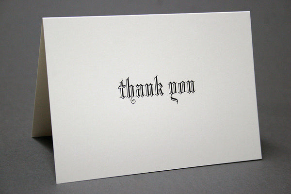 Blackletter thank you cards boxset