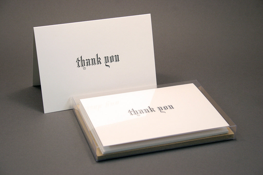 Blackletter hot foil thank you cards boxset