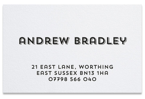 Bradley letterpress business card