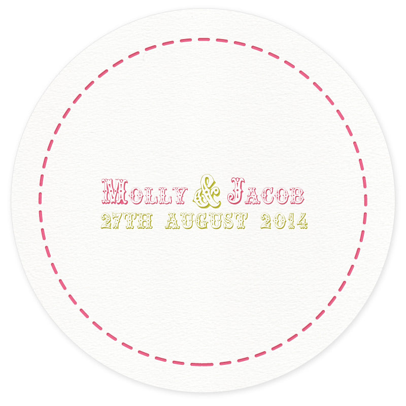 Bunting letterpress coaster