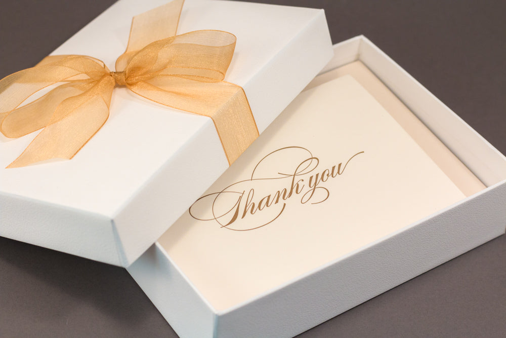Burgues Script Thank You Cards Gift Set