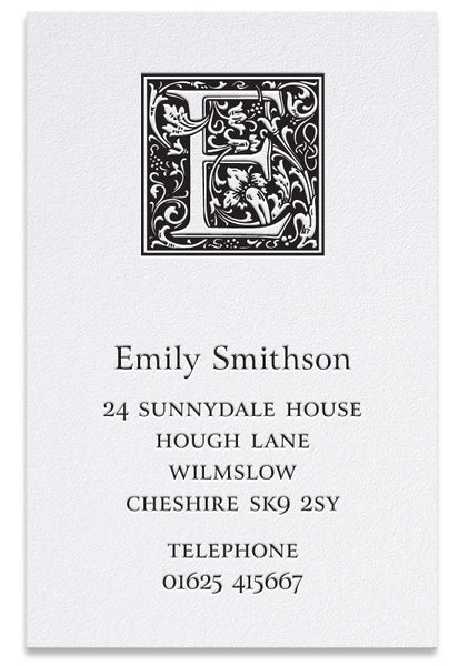 Goudy letterpress business cards